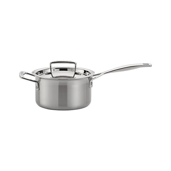 Le Creuset® 2 qt. Stainless Steel Saucepan with Lid