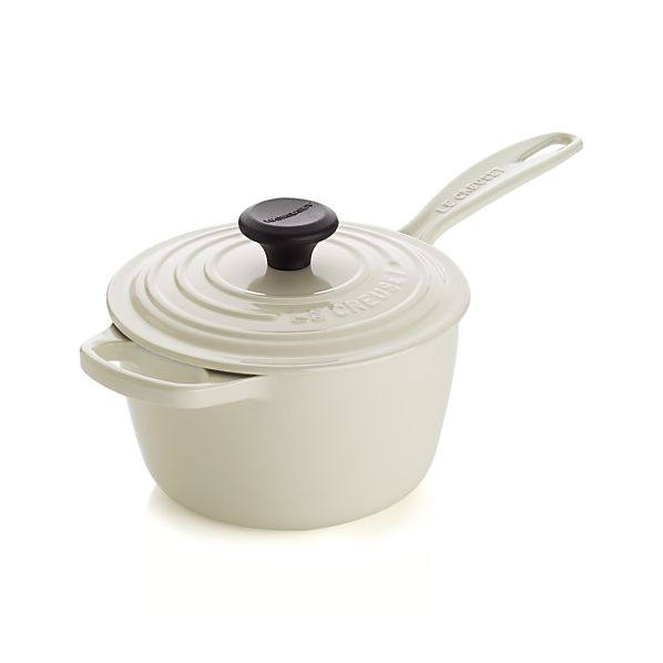 Le Creuset® Signature 1.75 qt. Cream Saucepan with Lid