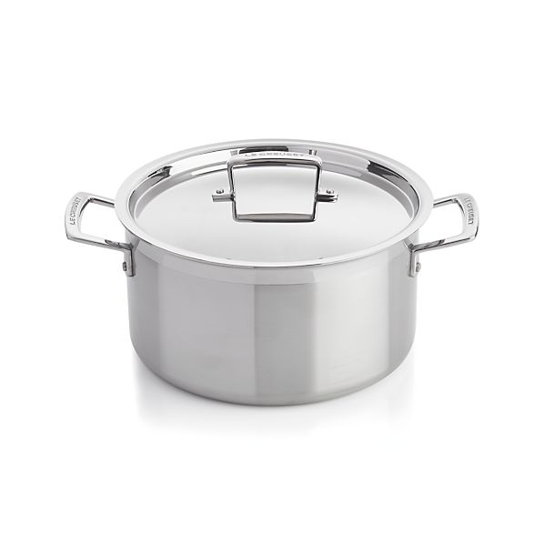 Le Creuset® 6.4 qt. Stainless Steel Stock Pot with Lid
