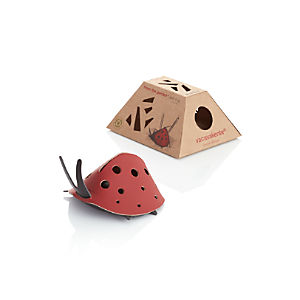 Leather Ladybug Desk Organizer