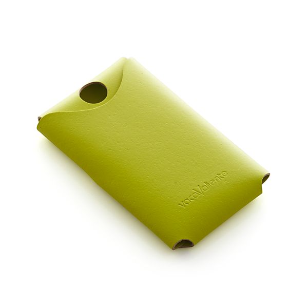 Green Leather Phone Cover