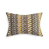 """Leilani Yellow 22""""x15"""" Pillow with Feather-Down Insert"""