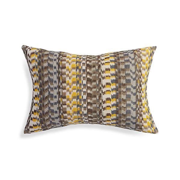 "Leilani Yellow 22""x15"" Pillow"