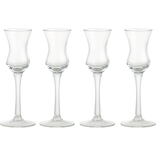 Set of 4 Limoncello Cordial Glasses