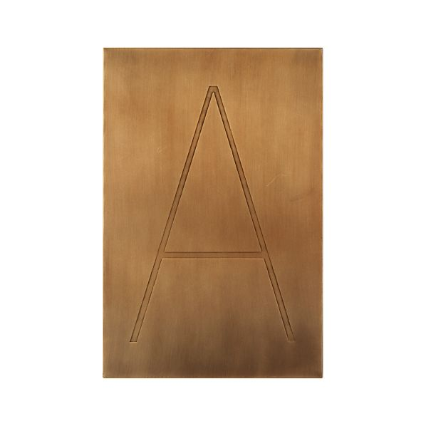 Brass Letter A Wall Art