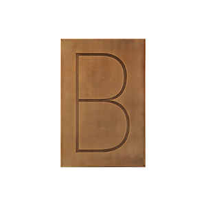 Brass Letter B Wall Art