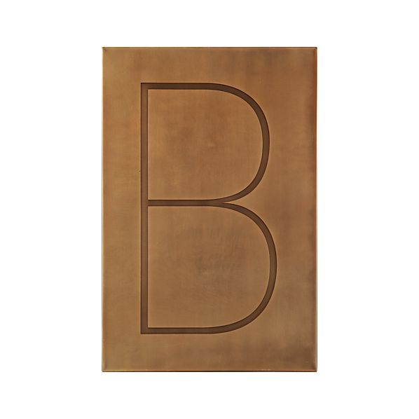 Wall Decor Letter B : Brass letter b wall art crate and barrel