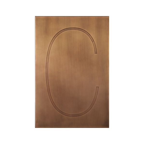 Brass Letter C Wall Art