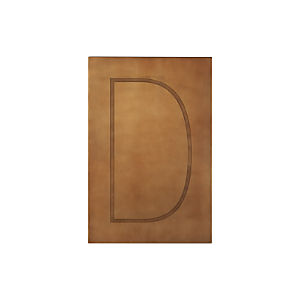 Brass Letter D Wall Art