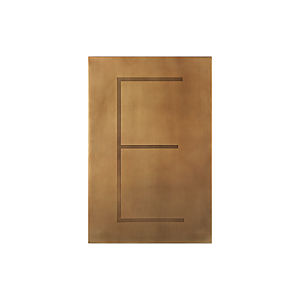 Brass Letter E Wall Art