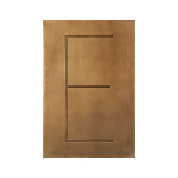 Brass Letter E Wall Art