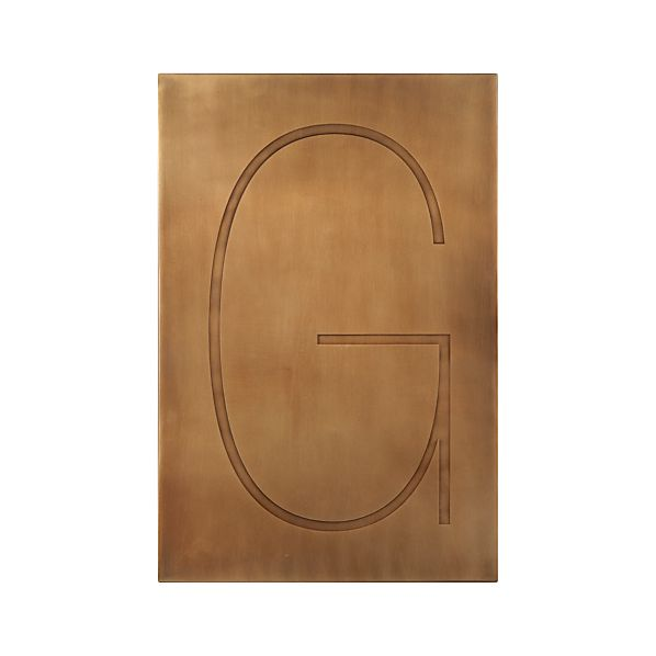 Brass Letter G Wall Art Crate And Barrel