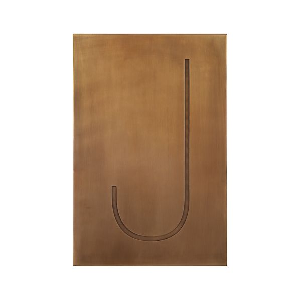 Brass Letter J Wall Art