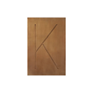 Brass Letter K Wall Art