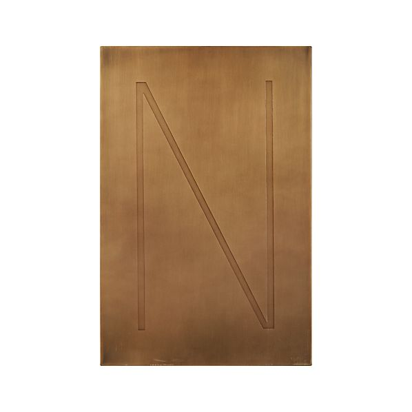 Brass Letter N Wall Art