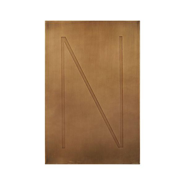 Sale alerts for Crate&Barrel Brass Letter N Wall Art - Covvet
