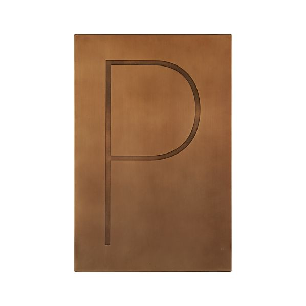 Brass Letter P Wall Art
