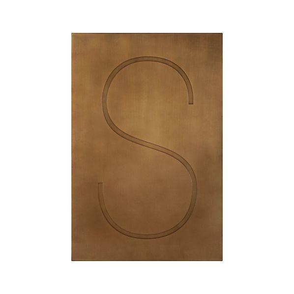 Brass Letter S Wall Art