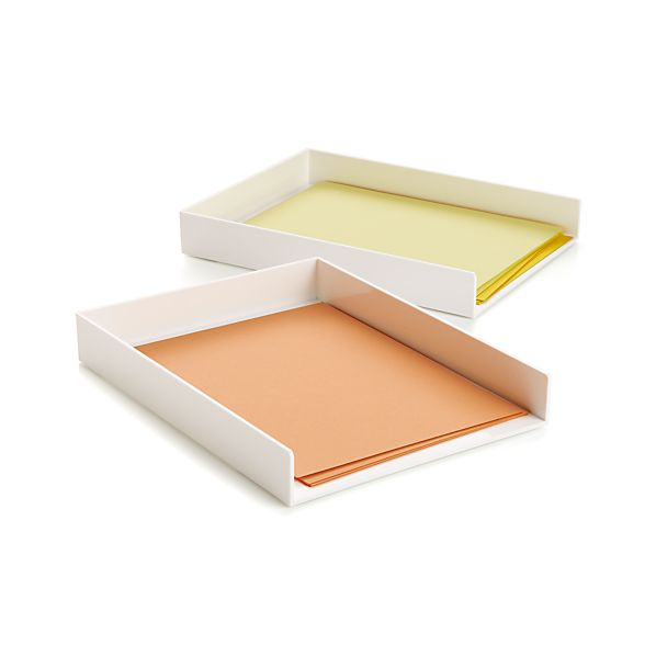poppin r white letter tray crate and barrel With white letter tray