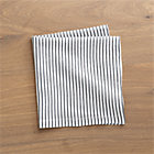 Liam Grey Stripe Napkin.