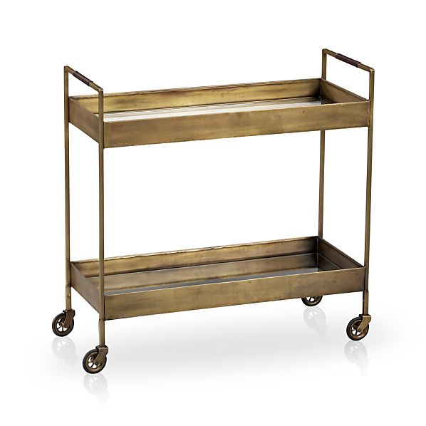 Libations bar cart in coffee tables side tables crate for Cocktail tables crate and barrel