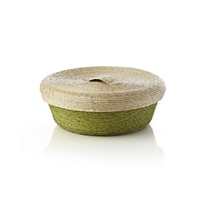 Lidded Green Small Basket