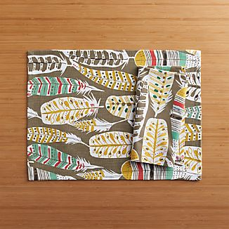 Light as a Feather Placemat and Light as a Feather Napkin