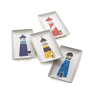 Set of 4 Lighthouse Appetizer Plates