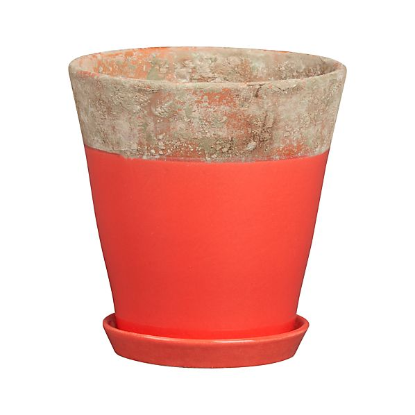 "Lilla 6.75"" Red Planter"