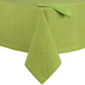 Linden Asparagus Tablecloth and Cotton Asparagus Napkin