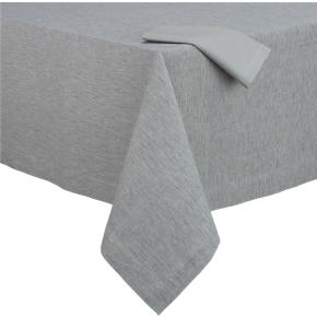 Linden Dove Tablecloth and Cotton Dove Napkin