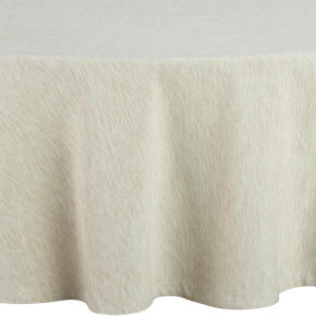 Linden Ecru 90 Round Tablecloth