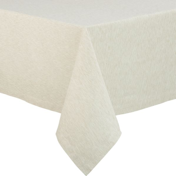 "Linden Ecru 60""x108"" Tablecloth"