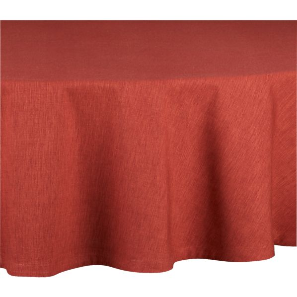 "Linden Henna 90"" Round Tablecloth"