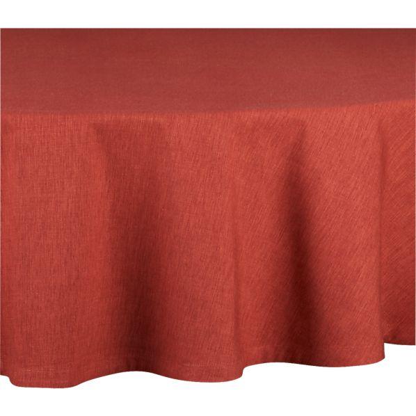 """Linden Henna 90"""" Round Tablecloth"""
