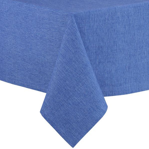 "Linden Marine Blue 60""x108"" Tablecloth"
