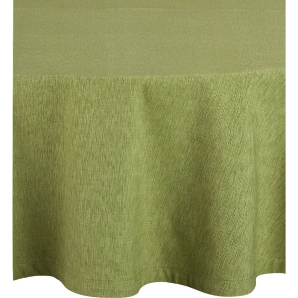 "Linden Pear 90"" Round Tablecloth"