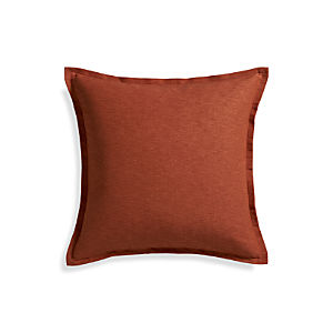 """Linden Copper 23"""" Pillow with Down-Alternative Insert"""