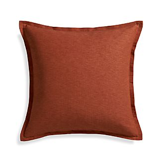 "Linden Copper 23"" Pillow with Feather Insert"