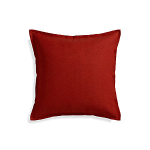 "Linden Garnet 23"" Pillow with Down-Alternative Insert"