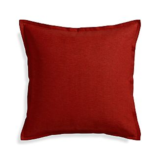 "Linden Garnet 23"" Pillow with Down-Alternative Insert"