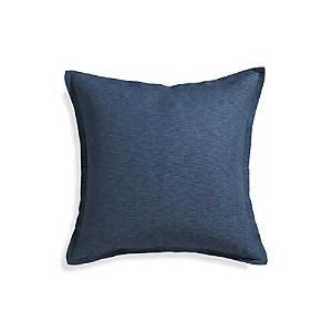 """Linden Indigo 23"""" Pillow with Down-Alternative Insert"""