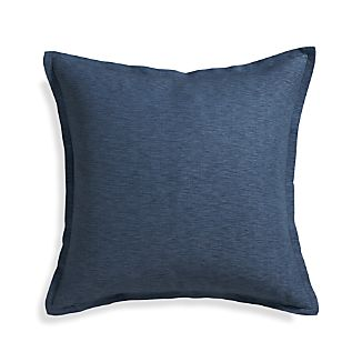 "Linden Indigo 23"" Pillow with Down-Alternative Insert"