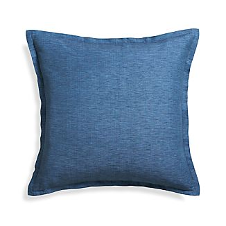 "Linden Indigo 23"" Pillow with Feather Insert"