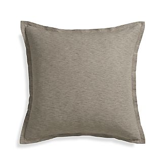 "Linden Mushroom 23"" Pillow with Feather-Down Insert"