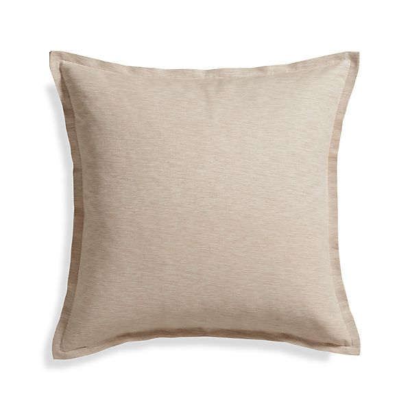 "Linden Natural 23"" Pillow with Feather-Down Insert"