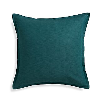 "Linden Peacock 23"" Pillow with Feather Insert"
