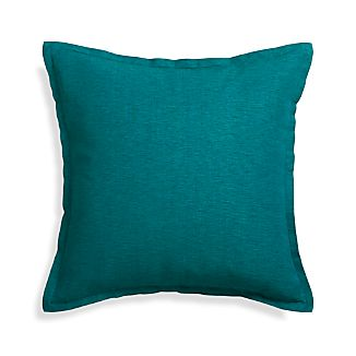 "Linden Peacock 23"" Pillow with Down-Alternative Insert"