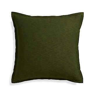 "Linden Pesto 23"" Pillow with Down-Alternative Insert."