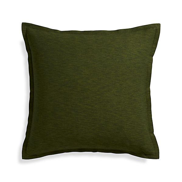 "Linden Pesto 23"" Pillow with Down-Alternative Insert."